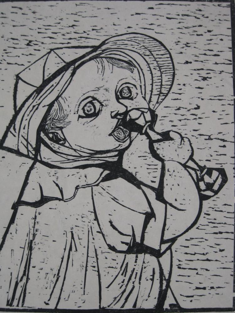 Will Barnet woodcut