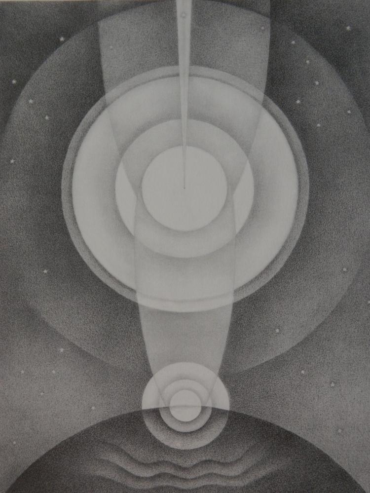 Emil Bisttram lithograph