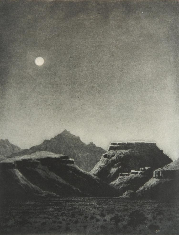 George Elburt Burr etching and aquatint