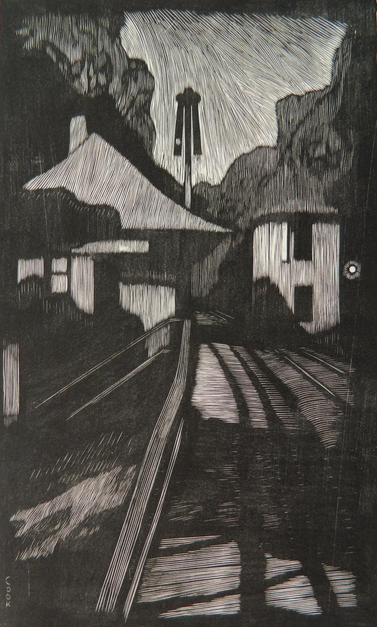 Howard Cook woodcut