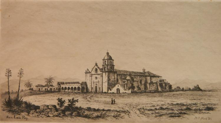 Henry Chapman Ford etching and drypoint