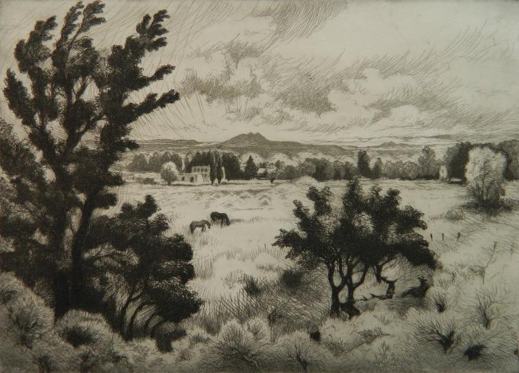 Gene Kloss etching