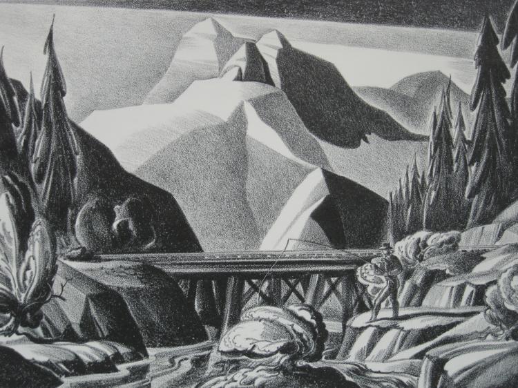 Dale Nichols lithograph