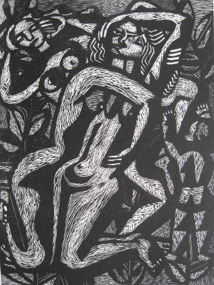 Charles Quest woodcut