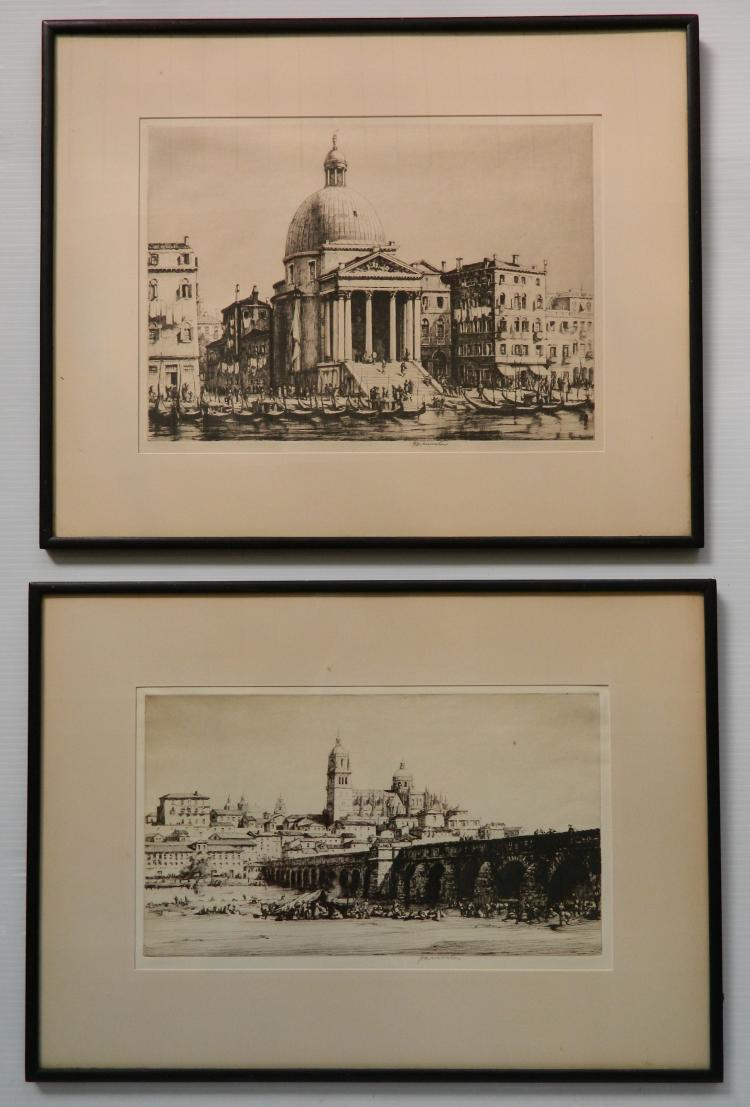 Herman Webster 2 etchings