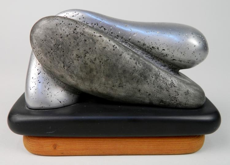 Charles Herndon aluminum on slate sculpture