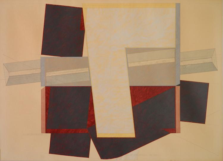 Ed Mieczkowski gouache and pencil
