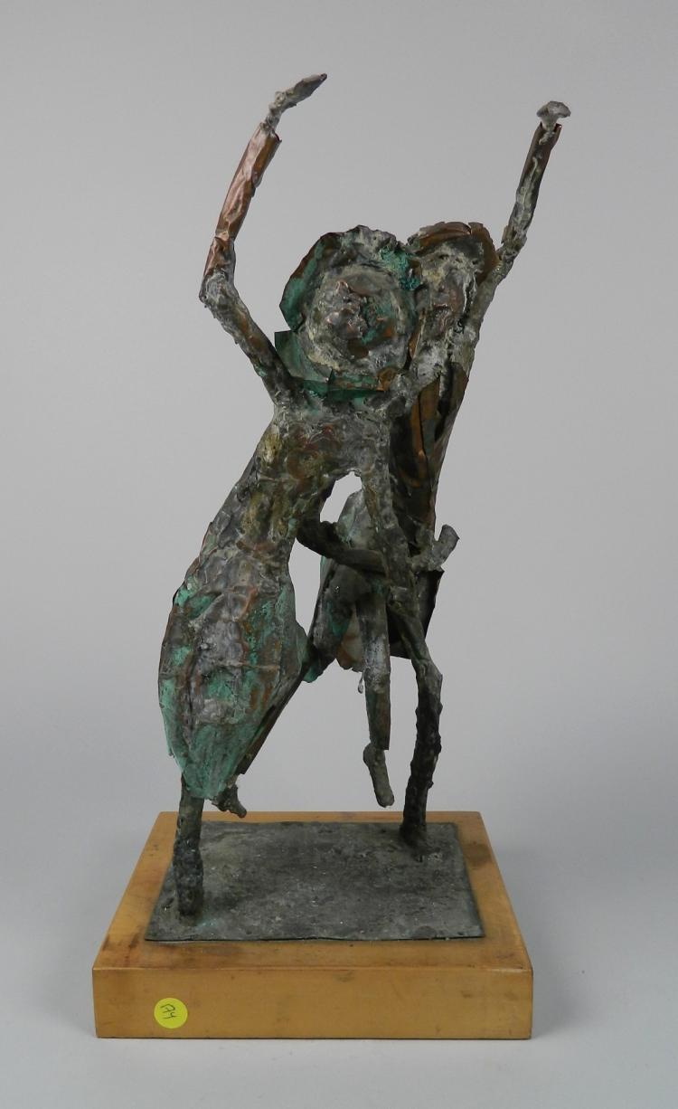 J. Spitalny copper sculpture