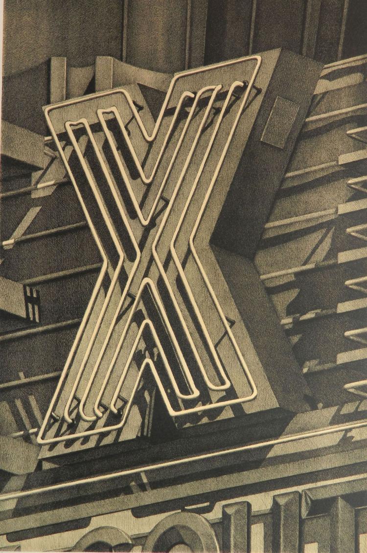 Robert Cottingham lithograph