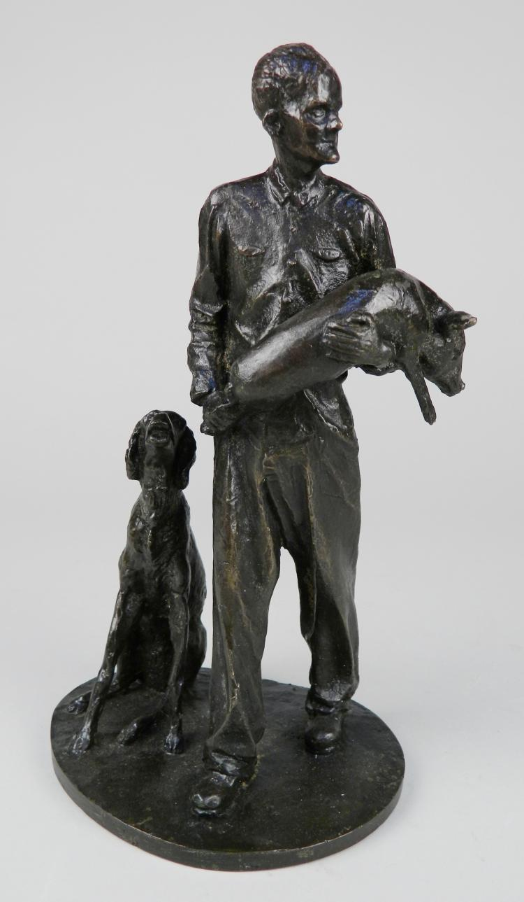 Christopher Parks bronze sculpture