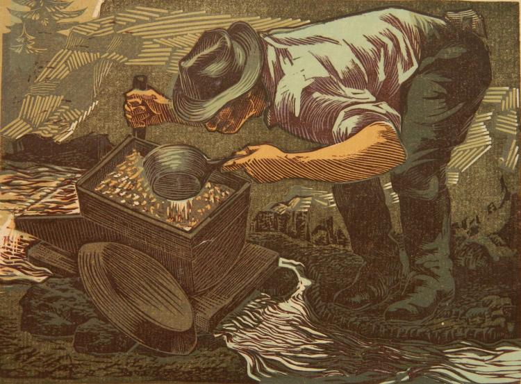 Victor Arnautoff woodcut