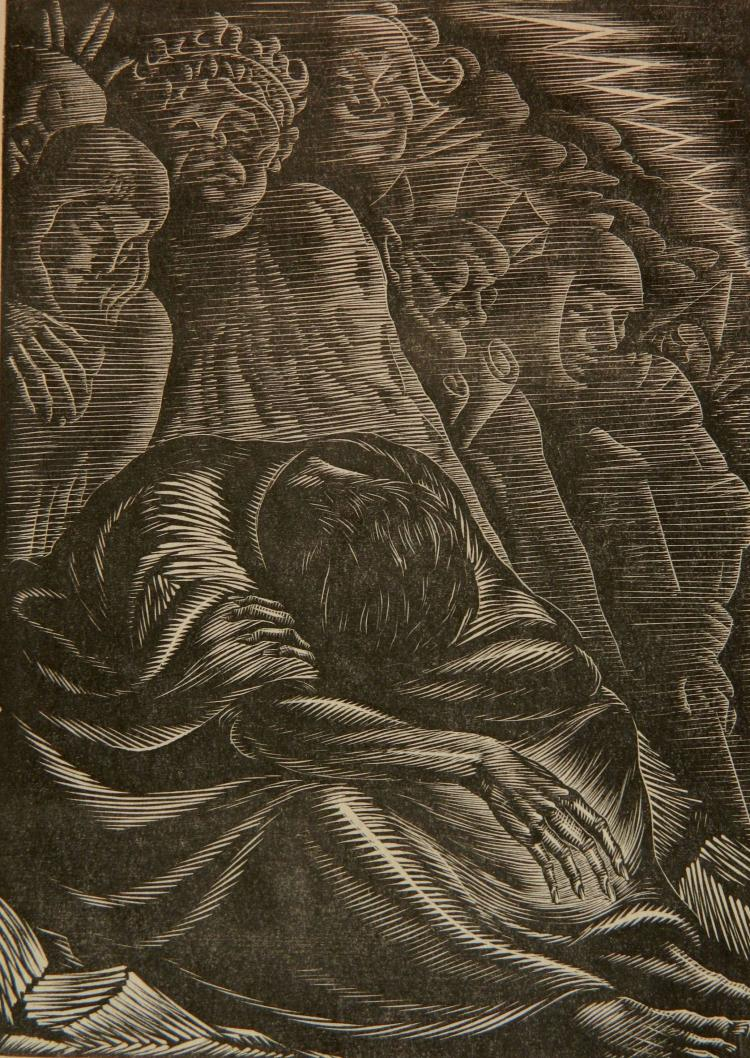 Isaac Friedlander wood engraving