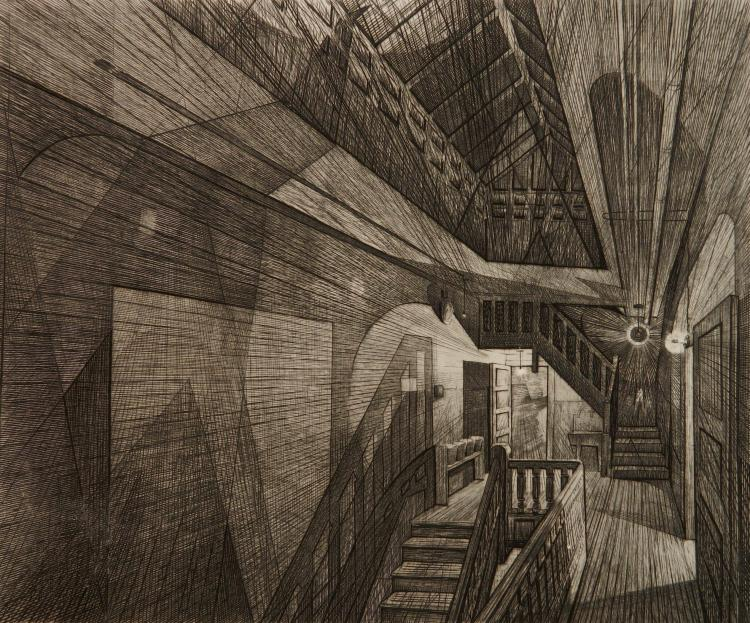 Armin Landeck drypoint and engraving