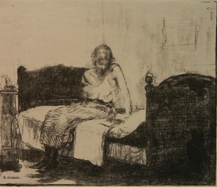 Ethel L. Gabain lithograph