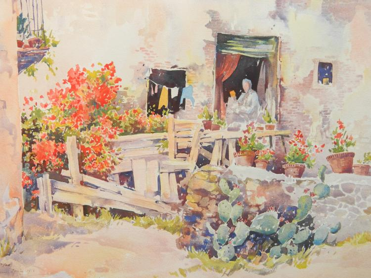 Arthur William Hall watercolor