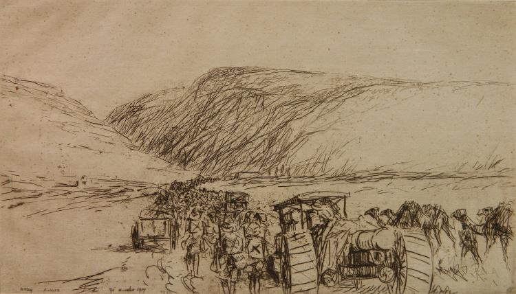 James McBey etching