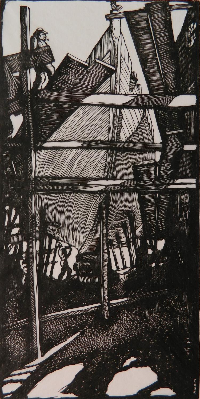 Howard Cook woodcut