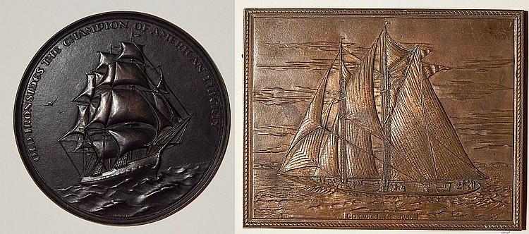 2 Bronze relief plaques - Marii, Lindner
