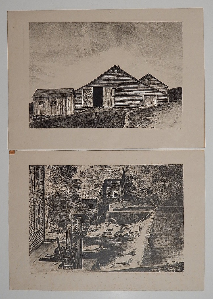 Kenneth Hartwell 2 lithographs