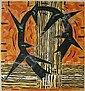 Gregory Amenoff woodcut in colors, Gregory Amenoff , Click for value