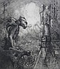 Hedley Fitton etching and aquatint, Hedley Fitton, Click for value