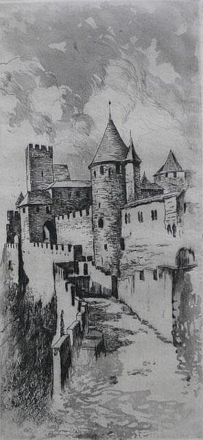 Henri Le Riche 2 etchings