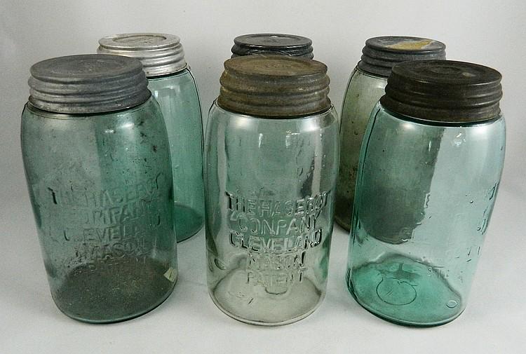 Fruit jars 6 haserot company cleveland - Decorative fruit jars ...