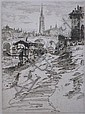 A. C. Webb- ''Pont Neuf - Toulouse''- etching,, A. C. Webb, Click for value