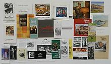 Group of art exhibition brochures and books