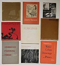 9 Exhibition ctalogs- 1950's & 60's Americna Art