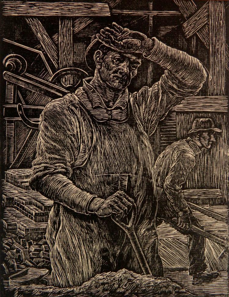 Albert Abramowitz wood engraving
