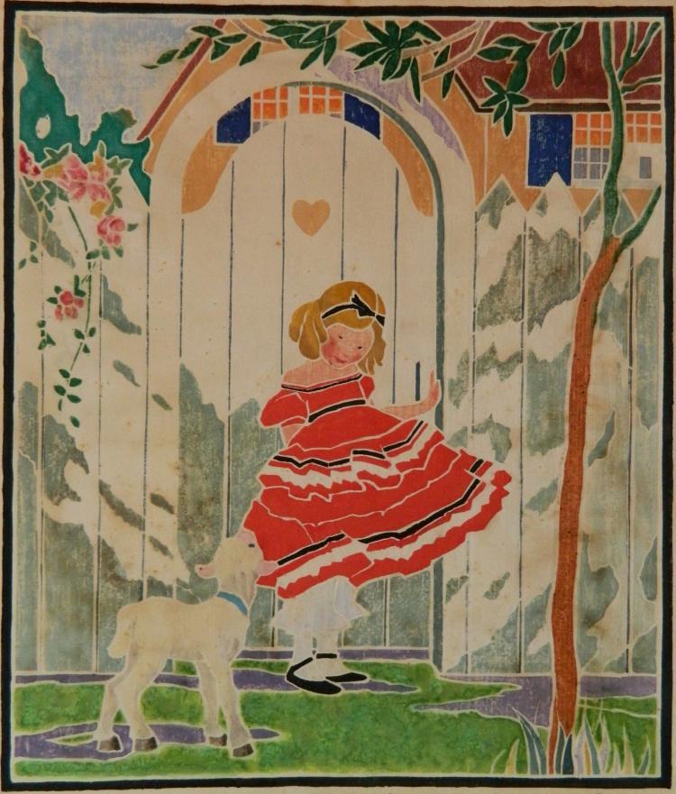 Ida Marie Perrault White Line Color Woodcut