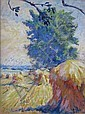 Henry Keller gouache, Henry George Keller, Click for value