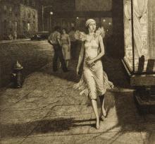 Martin Lewis etching