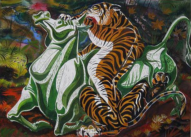 Paul Bough Travis (American 1891-1975)- ''Tiger