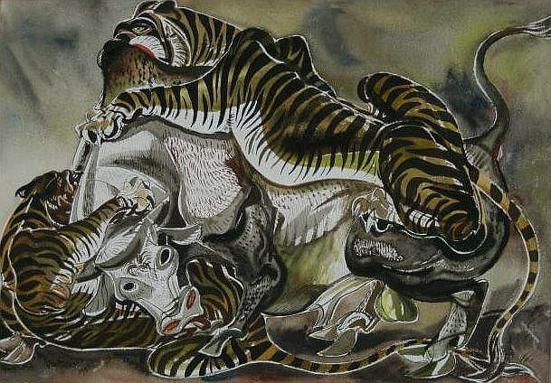 Paul Bough Travis (American 1891-1975)- ''Tigers