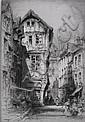 Albany Howarth (British 1872-1936)- ''Rue St., Albany Howarth, Click for value