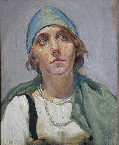 August F. Biehle (American 1885-1979)- Portrait of