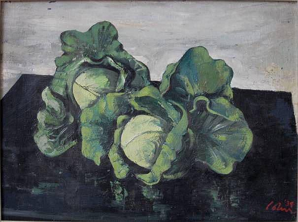 Harold Cohn (American 1908-1982)- ''Cabbages''-