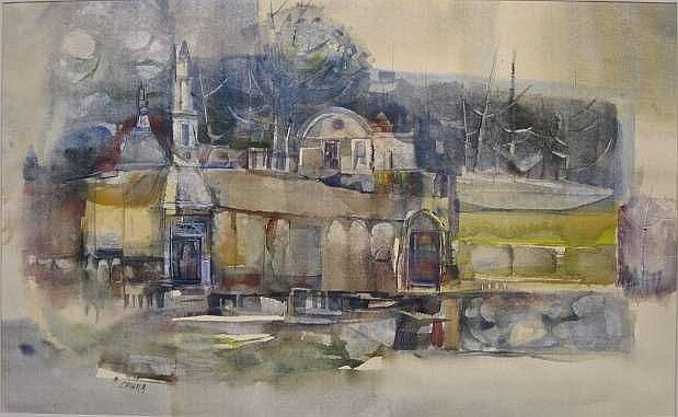 Alan Chiara (American 20th c.)- Cityscape-