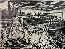Michael J. Gallagher woodcut