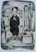 Emil Weddige lithograph