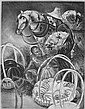Thomas Handforth- Figure with Horse- lithograph,, Thomas Scofield Handforth, Click for value