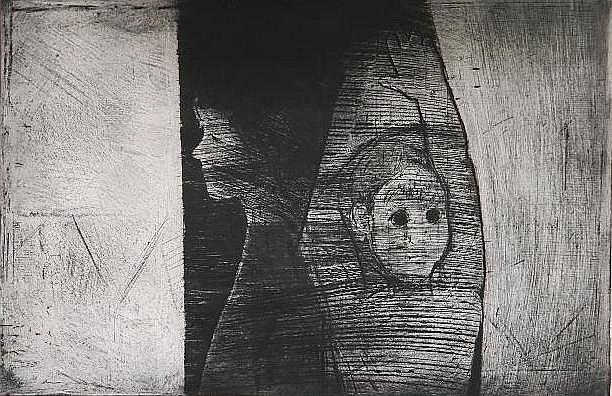 Herbert C. Cassill etching