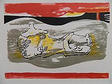 Henry Moore lithograph in colors