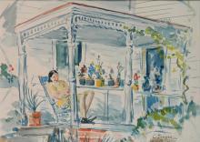 Clyde Singer watercolor