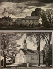 Thomas Nason 2 wood engravings