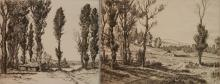 Melvin T. Wire 2 etchings