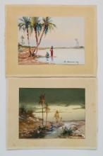 Style of Charles Camoin 2 watercolors