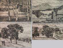 Luigi Lucioni 4 etchings